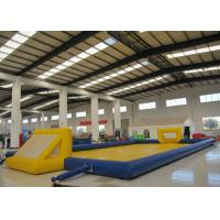 China Amusment Park Inflatable Soccer Playground bright colour giant Inflatable Football Pitch for adult on sale