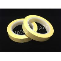 Quality Light Yellow Polyester Mylar Tape With Flame Retardant 0.055mm Thickness wholesale