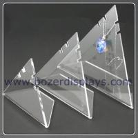 3X Triangle Acrylic Necklace Pendant Display Stand for sale