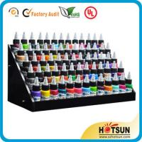 Cheap 3 tiered round rotating acrylic nail polish display stand in cheap price for sale