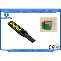 Quality Black Small Metal Detector Wand , Security Check Portable Metal Detector Equipment wholesale