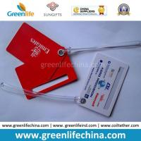China Advertising Top Quality Red Logo Printed Custom Plastic Luggage Tag on sale