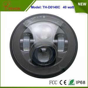 "Buy cheap 7"" round LED headlight with LED angle eyes decoration for Jeep Wrangler JK CJ TJ LJ product"