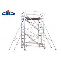 China Strong Loading Scaffolding Frame System Mobile Aluminium Scaffold Access Tower on sale