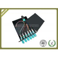 Quality MPO - LC Cold - Roll Steel Fiber Optic Distribution Box 50 / 125 OM3 Load With Patch Panel wholesale