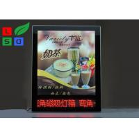 Quality Advertising Magnetic Light Box Ultra Slim With Red Color LED Scrolling Text Sign wholesale