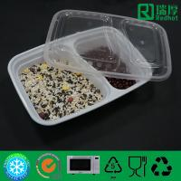 Quality Two Compartments Divided Disposable PP Food Container / PlasticTableware wholesale