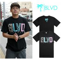 Quality Wholesale Newly Men's BLVD active top designer round collar short sleeve hip-hop T-shirt wholesale
