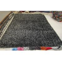 China OEM Carbonized Black Polyester Shaggy Pile Rug, Soft Pile Modern Carpet Rugs on sale