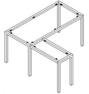 40mm L type tubular manager desk frame ,#SY-913L