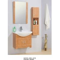 Quality 60 X 46 / cm Solid Wood Bathroom Cabinet wall mount Ceramic Basin Material wholesale