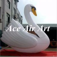 Quality custom giant 20ft inflatable swan model for advertising in party,event wholesale