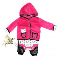 China Newborn Baby Girl Winter Clothes Jacket 220G Coral Fleece 100% Polyester on sale