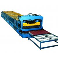 Quality Cr12 Mould Steel Cutter Roof Tile Roll Forming Machine 5.5KW ISO9001 with high production speed wholesale