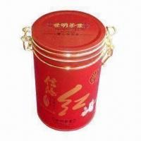 Quality Coffee Tin/Coffee Canister/Metal Tea Chest/Tea Tin with Airtight Plastic Lid or Plug Lid, for Gift wholesale