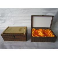 Quality Vintage Designed Wine Packaging Boxes With Yellow Cloth 33*16.5*8 Sizes wholesale