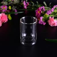 Quality Popular 85ml Double Wall Borosilicate Glass Tea Cup Bottom dia 5.2cm wholesale
