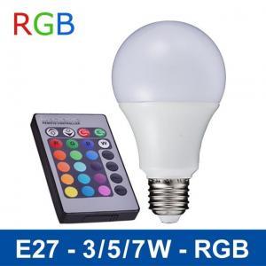 Quality NEW 110V/220V Remote Control 16 Color Change Lampada E27 3W/5W/7W LED RGB Bulb Light wholesale