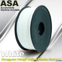 Quality White ASA Filament / Anti Ultraviolet 1.75mm Filament For 3D Printer wholesale