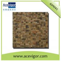 Quality Mosaic decoration in rustic antique wood for indoor wall wholesale