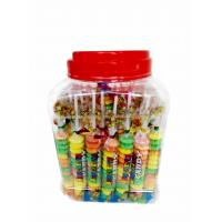 Cheap Colorful and Sweet Multi Fruit Flavor Roll Healthy Hard Compress Candy in Jars for sale