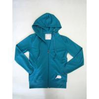 Quality brushed fleece ladies zip hoodies wholesale