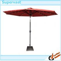Quality Garden Decorative Heavy Duty Crank 10FT Patio Umbrellas With Solar Lights wholesale