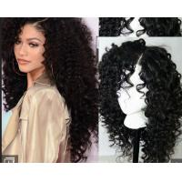 Quality Brazilian Curly Full Lace Human Hair Wigs For Black WomenWith Baby Hair wholesale