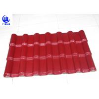 Buy cheap Embossed Surface Red Synthetic Resin Roof Tile 219 mm Pitch Size from wholesalers