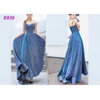 Quality The starry sky skirt spaghetti strap a line evening formal party dress wholesale