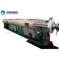 Buy cheap PE / PP / PPR Plastic Pipe Extrusion Machine , Plastic Pipe Production Line from wholesalers