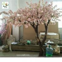 Quality UVG Fabulous church wedding decoration ideas in baby pink fake cherry blossom trees for stage background CHR173 wholesale