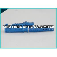 Quality 2 - Hole Flange Plastic Optical Fiber Connectors 900um Blue E2000 APC Connector wholesale
