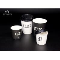Cheap 4 oz / 8 oz / 12 oz Hot Beverage Disposable Cups Single Wall / Double Wall / Ripple for sale