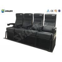 Quality Safety 4D Movie Theater With Pure Hand - Wrapped PU Leather Motion Seats wholesale