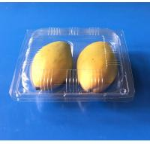 Quality Disposable plastic Mango packaging container 2 pcs PET fruit packaigng box for Mango Plastic packaging box for Mango 2pc wholesale