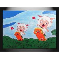 China Cartoon Decorative Paint Handmade Oil Painting, Wall Art Picture ETH106 on sale