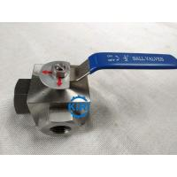 Cheap PN16 - PN160 Pressure 3 Way Ball Valve , Stainless Steel Ball Valve Easy Operation for sale