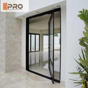 China Unique Villa Front Glass Entry Doors / Single Pivot Patio Doors front door pivot door aluminum pivot front door center on sale