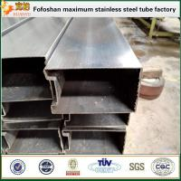 Quality 316 grade special shape inox pipes with single slot wholesale