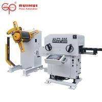 China Coil Steel Decoiler Straightener and Feeder for Blanking Line(MAC2-500) on sale
