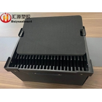 China Impact Resistant Black ESD Corrugated Box With Divider on sale
