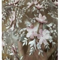 Quality hand french beaded lace fabric embroidery wholesale