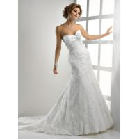 China Gorgeous Romantic Lace Wedding Gowns , Sweetheart Strapless Mermaid Dress on sale