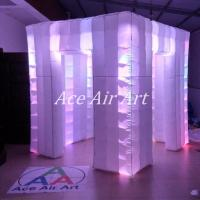 Quality 2.4 m x 2.4 m x 2.4 m ace air art inflatable wedding photo booth /inflatable led photobooth for weddings with best light wholesale