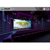 Quality Flat / Arc Screen Movie Theater Seats Sound Vibration Cinema Theater With Special Effect wholesale
