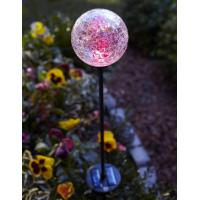 China Color Changing Solar Glass Ball Fixture light on sale