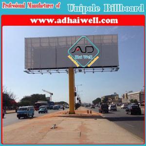 China Outdoor Advertising Unipole Billboard Display in Luanda Africa on sale