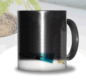 Quality Certification SGS/CE custom LOGO for the change colors mug WITH HANDLE printting photos ceramic cup magic mug wholesale