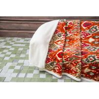 Quality Floral Printed Plush Velvet Sherpa Blanket 2 Ply With Folded Edge Allergy Free wholesale
